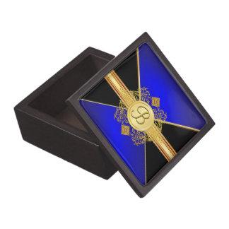 Caja de regalo azul del recuerdo del oro elegante  cajas de recuerdo de calidad