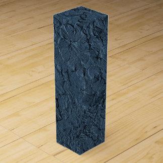 Caja de regalo azul esculpida del Gris-Vino de las Caja Para Botella De Vino
