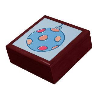 Caja de regalo azul redonda de las bolas retras de