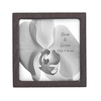 Caja de regalo blanca de boda de la orquídea caja de regalo de calidad