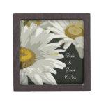 Caja de regalo blanca de boda de las margaritas de caja de regalo de calidad