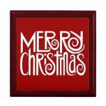 Caja de regalo blanca de las Felices Navidad