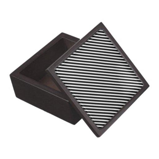 Caja de regalo blanco y negro de la raya caja de recuerdo de calidad