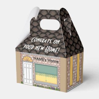 Caja de regalo casera de la forma de la casa que cajas para detalles de boda