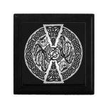 Caja de regalo céltica de los dragones joyero cuadrado pequeño