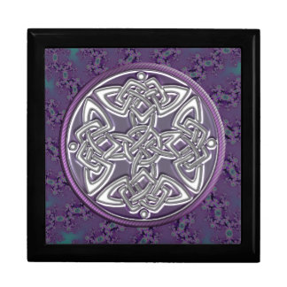 Caja de regalo céltica del fractal del nudo de la