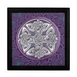 Caja de regalo céltica del fractal del nudo de la joyero cuadrado grande