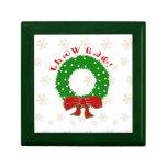 Caja de regalo cherokee de la guirnalda del navida