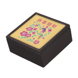 Caja de regalo china del Año Nuevo del batik flora Caja De Recuerdo De Calidad