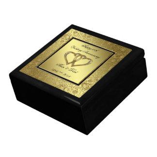Caja de regalo clásica del aniversario de boda de joyero cuadrado grande
