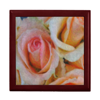 Caja de regalo color de rosa del ramo