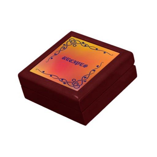Caja de regalo coloreada otoño decorativo de la joyero cuadrado pequeño