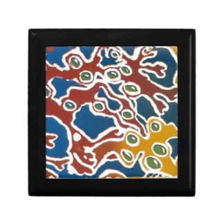 """Caja de regalo colorida con diseño de la """"alga mar joyero cuadrado pequeño"""