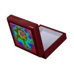 Caja de regalo colorida del fractal