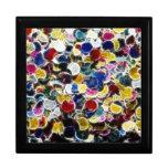 Caja de regalo colorida del fractal del confeti