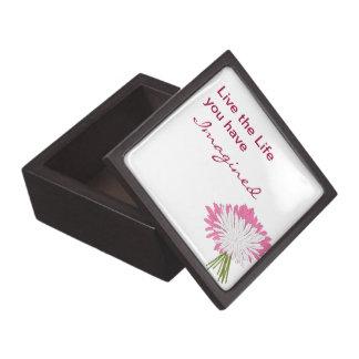Caja de regalo con cita caja de joyas de calidad