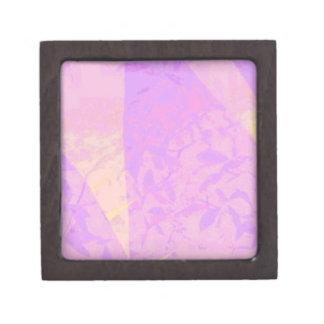 Caja de regalo con la impresión púrpura de la hoja cajas de recuerdo de calidad