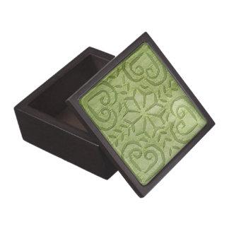 Caja de regalo con verde indio del applique cajas de recuerdo de calidad