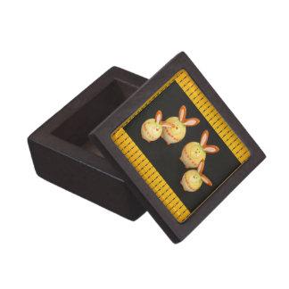 Caja de regalo cuadrada superior de los conejitos  cajas de joyas de calidad