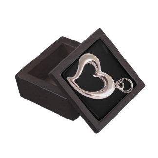 Caja de regalo cuadrada superior del corazón del e cajas de regalo de calidad