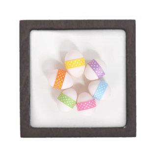 Caja de regalo cuadrada superior feliz de Pascua Cajas De Joyas De Calidad