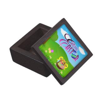 Caja de regalo cuadrada superior feliz de Pascua Caja De Joyas De Calidad