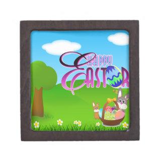 Caja de regalo cuadrada superior feliz de Pascua Cajas De Regalo De Calidad