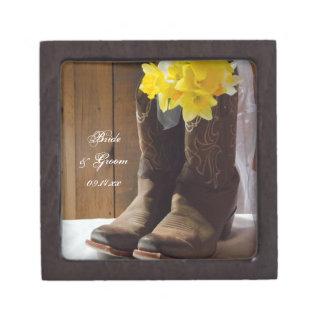 Caja de regalo de boda de los narcisos del país cajas de regalo de calidad