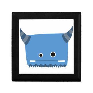 Caja de regalo de cuernos azul del monstruo