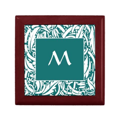 Caja de regalo de encargo de la teja del monograma