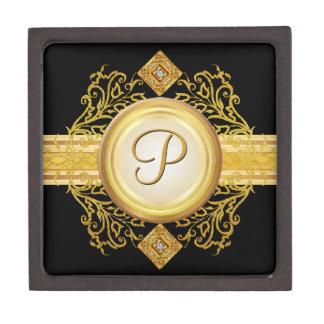 Caja de regalo de encargo del monograma de la letr cajas de recuerdo de calidad