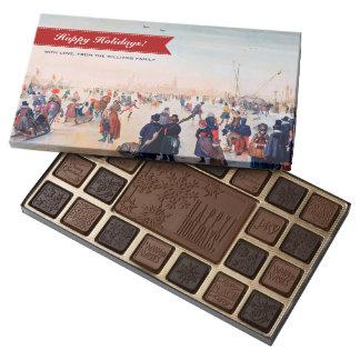 Caja de regalo de encargo del navidad de caja de bombones variados con 45 piezas