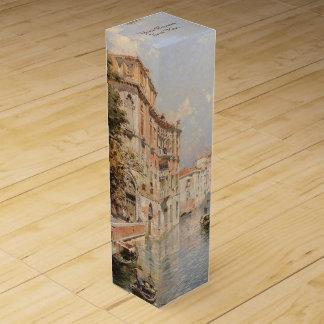 Caja de regalo de encargo del vino de Venecia de