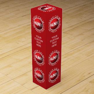 Caja de regalo de encargo del vino del botón de pá caja de vino