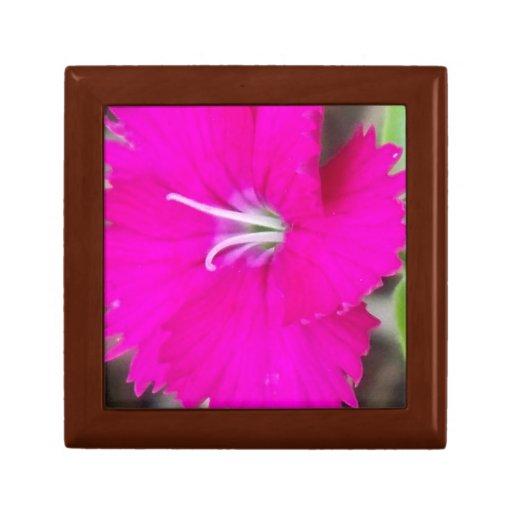 Caja de regalo de encargo - flor rosada