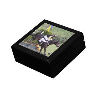 Caja de regalo de Eventing de los caballos Joyero Cuadrado Pequeño