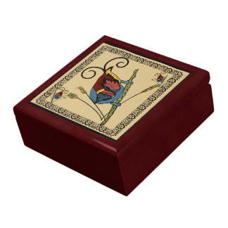 Caja de regalo de la ave del paraíso joyero cuadrado grande