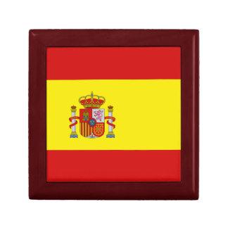 Caja de regalo de la bandera de España Joyero Cuadrado Pequeño