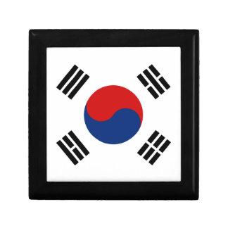 Caja de regalo de la bandera de la Corea del Sur Joyero Cuadrado Pequeño