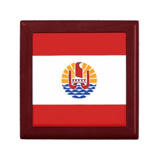 Caja de regalo de la bandera de Polinesia francesa