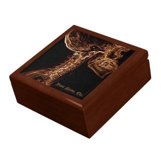 Caja de regalo de la C-espina dorsal de Brown/del  Joyero Cuadrado Grande