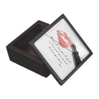 Caja de regalo de la cita de la letra de amor cajas de regalo de calidad