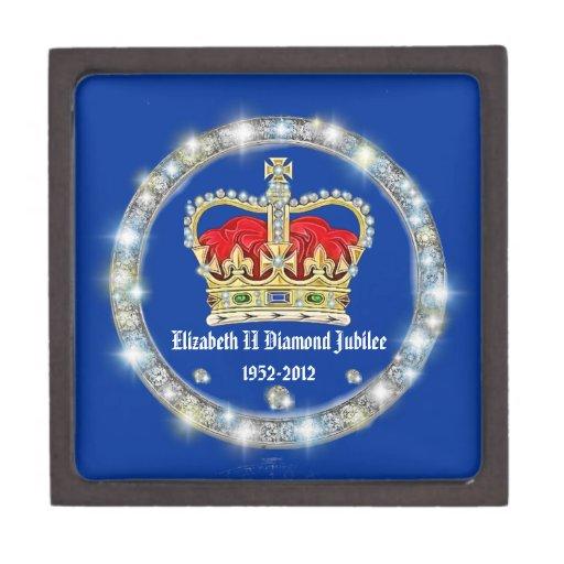 Caja de regalo de la corona del jubileo de diamant cajas de joyas de calidad