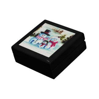 Caja de regalo de la familia del muñeco de nieve