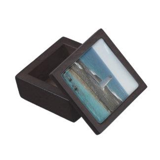 Caja de regalo de la foto del faro pequeña caja de joyas de calidad