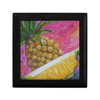 Caja de regalo de la fruta tropical de la piña