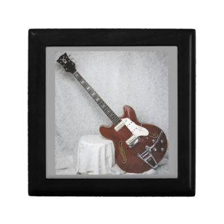 Caja de regalo de la guitarra de la voz del vintag