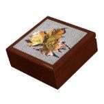 Caja de regalo de la hoja del otoño