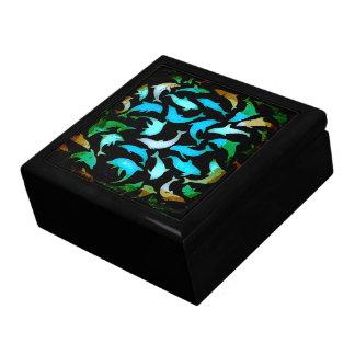 Caja de regalo de la joyería del recuerdo de los d joyero cuadrado grande