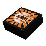 Caja de regalo de la joyería del recuerdo del béis joyero cuadrado grande